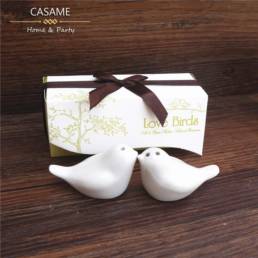 Wholesale- Lovely Love Bird Salt And Pepper Shaker Wedding Favors ...