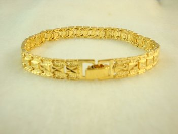 Wholesale Super deal New arrival fashion Jewelry vacuum plated 24K gold Bracelet 23cm Super price !Free Shipping SL28