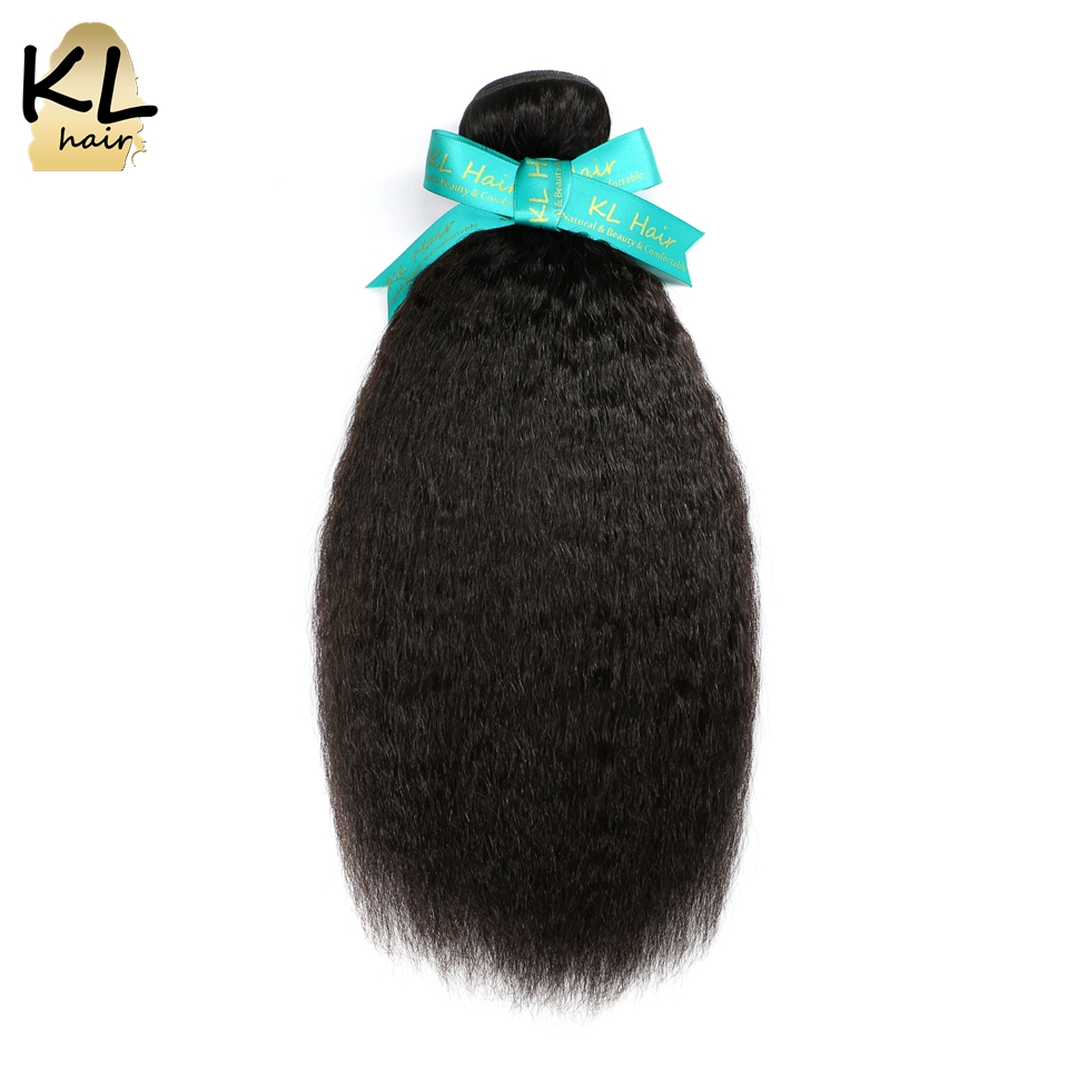 KL Hair Brazilian Kinky Straight Hair Bundles 100% Human Hair Weaving Natural Color 8″~28″ Remy Hair Extensions Free Shipping