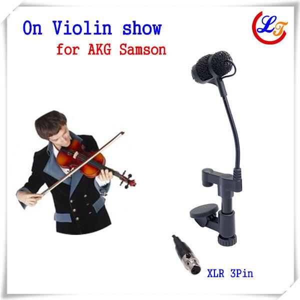 Professional Instrument Violin Microphone Mandolin Viola Mikrofone for AKG Samson Wireless System Transmitter XLR 3Pin Mic(China (Mainland))