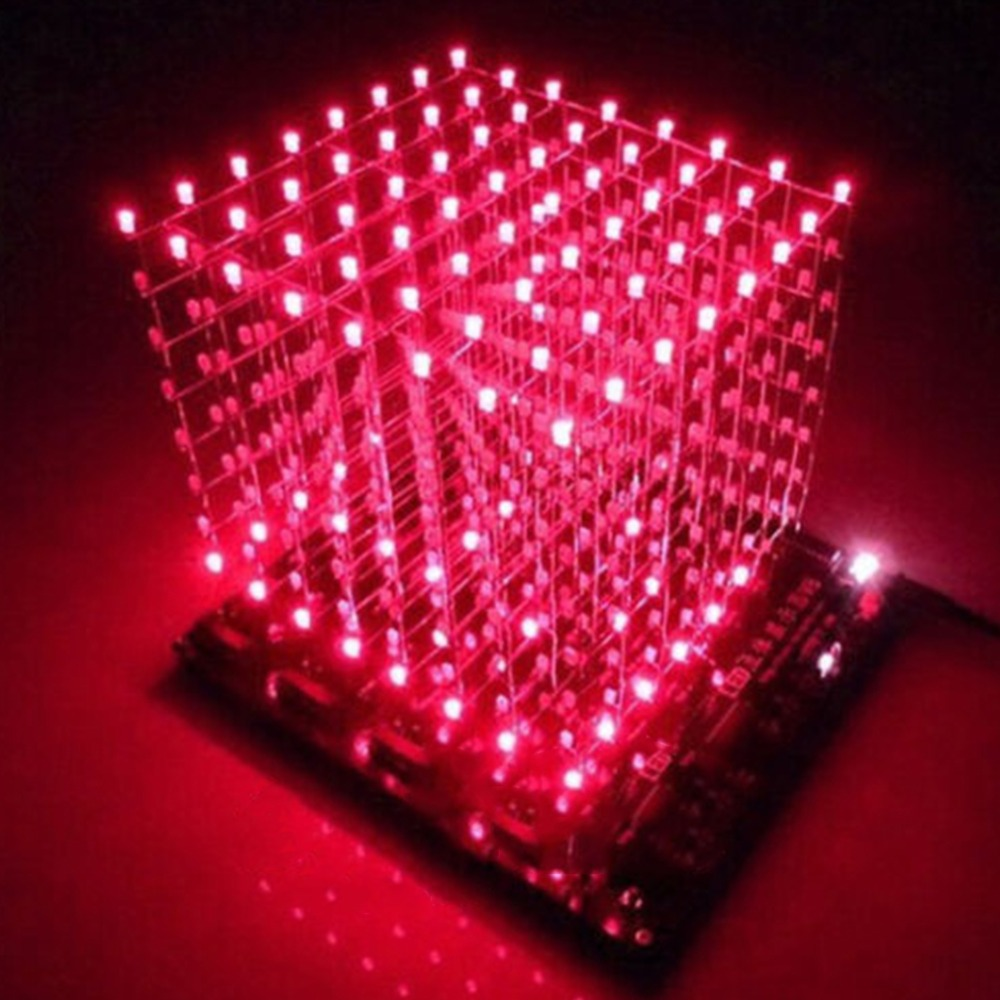 Free shipping 3D8 light cube (parts) pcb board +60 s2 +573 +2803 / CUBE8 8x8x8 3D LED + information and source(3D8S) 3d led cube<br><br>Aliexpress