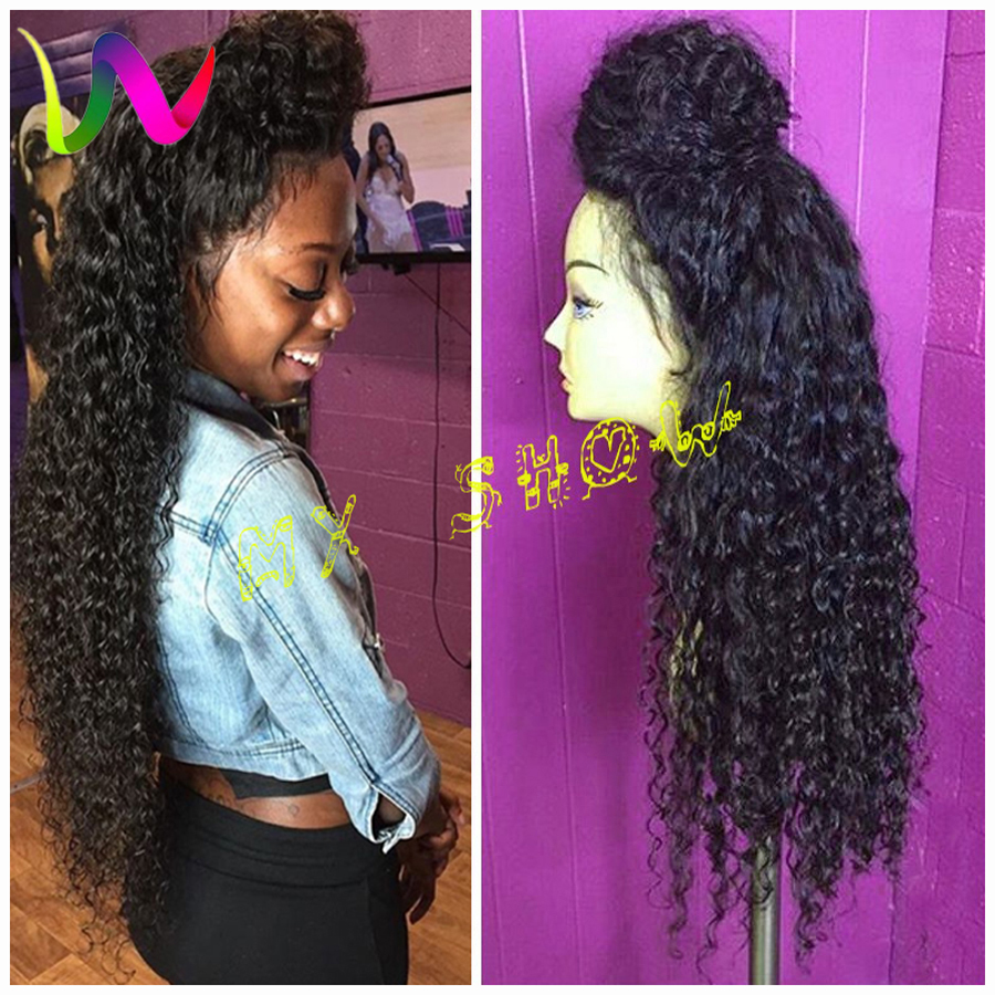 Synthetic Lace Front Wig For Black Women Afro Synthetic Wigs Lace Front Cheap Long Curly Lace Front Synthetic Wig With Baby Hair(China (Mainland))
