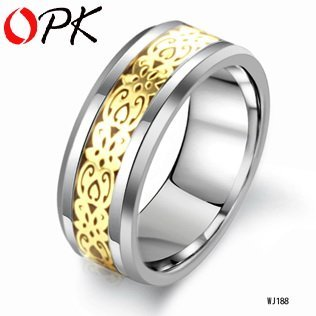 OPK JEWELRY High Quality Fashion Men Ring Tungsten Steel Ring  luxurious Jewelry New Arrivel  For friends  188