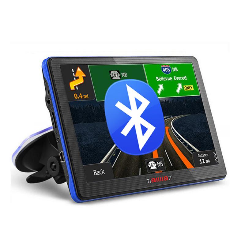 7 inch Car GPS navigation Bluetooth avin 256MB 800Mhz 8GB Full Europe/USA/ Russia navitel navigator Sat Nav Truck vehicle gps(China (Mainland))