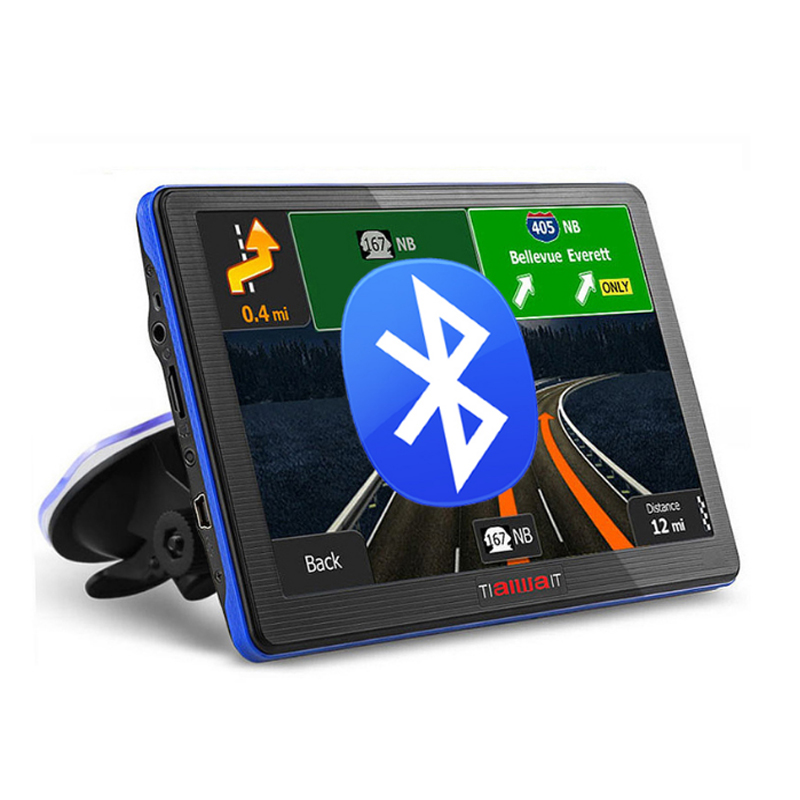 7 inch Car GPS navigation Bluetooth avin 256MB 800Mhz 8GB Full Europe/USA/ Russia navitel navigator Sat Nav Truck vehicle gps(China (Mainland))