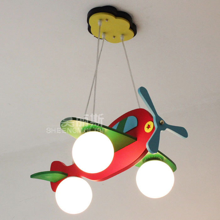New Colorful Kid's Bedroom Airplane Model Lamp Pendant Lamp Children's Study Room Pendant Lights Free shipping Hanging Light(China (Mainland))