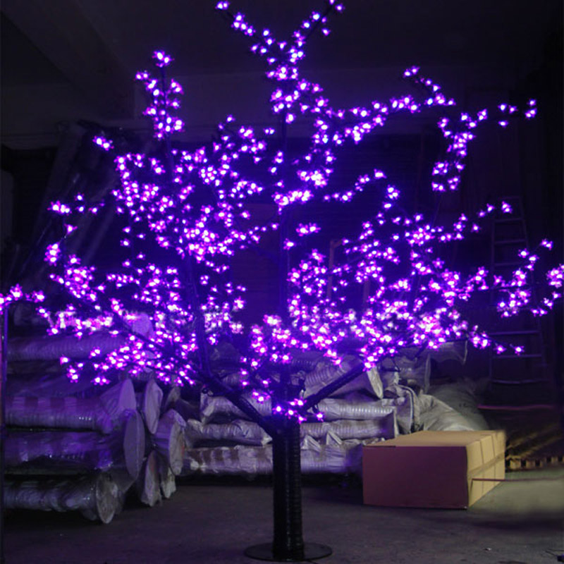 1.5Meters 624LEDS purple blossom cherry tree christmas holiday decoration decorations with led lights free shipping to Europ(China (Mainland))