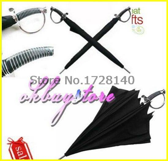 wholesale 20pcs/lot, Japanese Katana Umbrella,Japanese Samurai Ninja Katana Umbrella Black,umbrella samurai sword(China (Mainland))