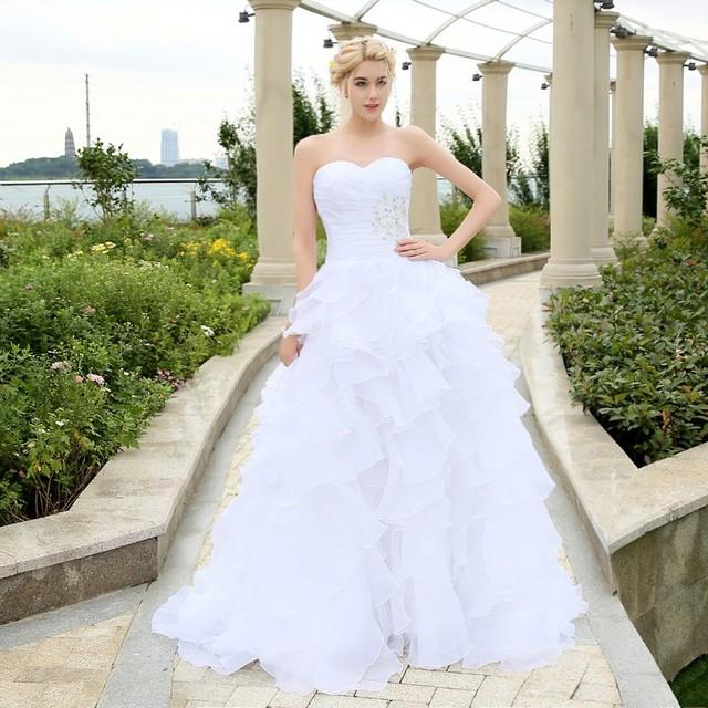 com : Buy 2016 Stock Corset Wedding Dresses Ivory White Robe de Mariee ...