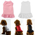 Pet Dress Plain Dog Shirt Girl Basic Dog Clothes for Cat Puppy Dog Pets Clothing With