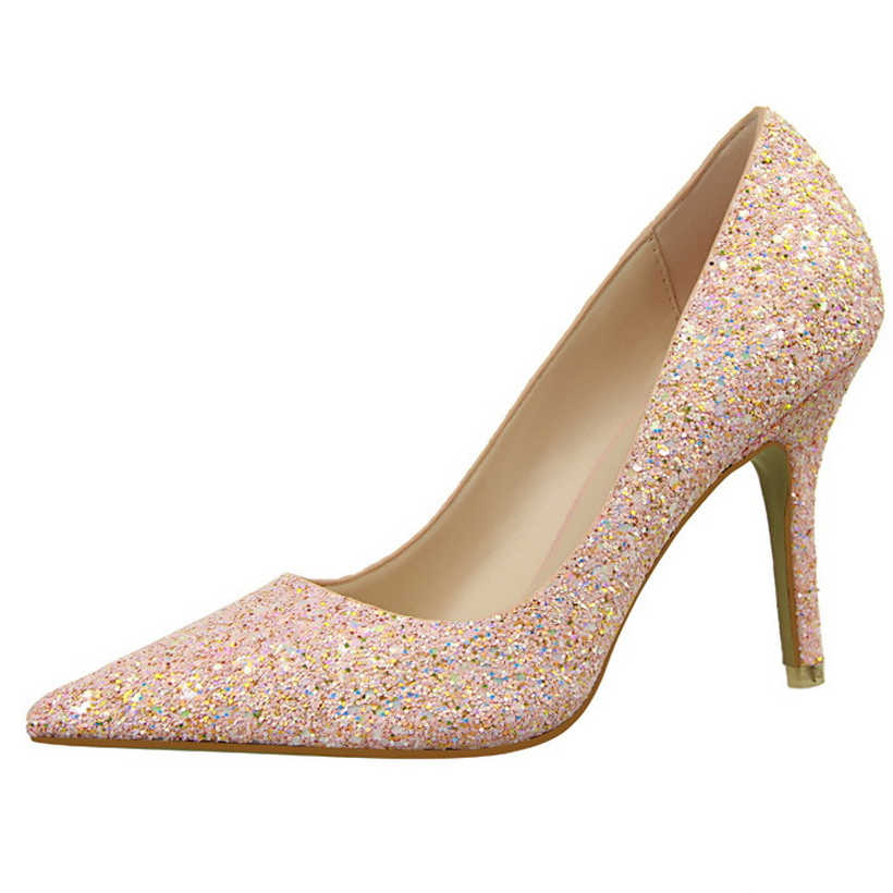 pumps details Picture - More Detailed Picture about Ladies Glitter ...