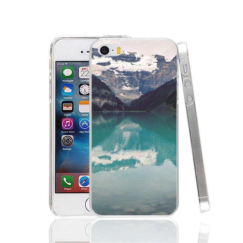 26985 Lake Louise Canada Cover cell phone Case for iPhone 4 4S 5 5S SE 5C 6 6S 7 Plus(China (Mainland))