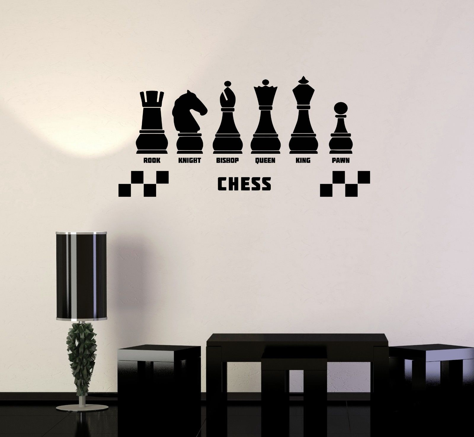 2016 new fashion Vinyl Decal Chess Club Intellectual Game Wall Stickers Mural Free shipping(China (Mainland))
