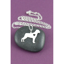 Fashionable Rottweiler Necklace Custom Dog Necklace Dog Breed Pet Jewelry Personalized Pets Memorial Gift New Puppy for lovers
