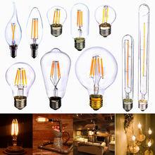 E27 2W 4W 6W 8W COB LED Vintage Retro Edison Filament Light Bulb Xmas Lamp Globe ST64 T30-185 G80 T45 A60 240V(China (Mainland))