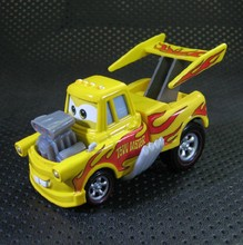 A0116 Pixar Cars Yellow Tow Mater diecast figure toy Alloy car model for Chiildren 1pcs