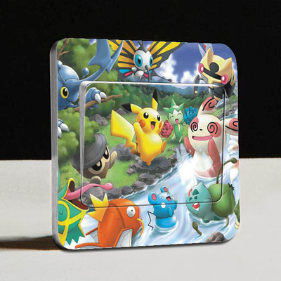 DIY 3D Cartoon Switch Decal Wallpaper Wall Stickers Home Decoration Bedroom Kids Room Light Parlor Decor