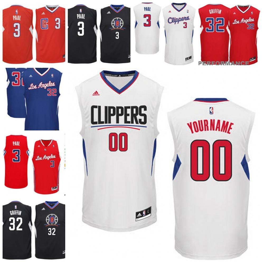 Mens Los Angeles Clippers Blake Griffin Chris Paul free shipping custom made any name any number(China (Mainland))