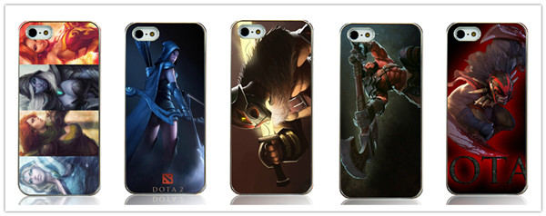 2015 wholesale dota 2 games style 5pcs/lot printed Hard Back Case Cover for Iphone 5 5s 5G Free shipping(China (Mainland))