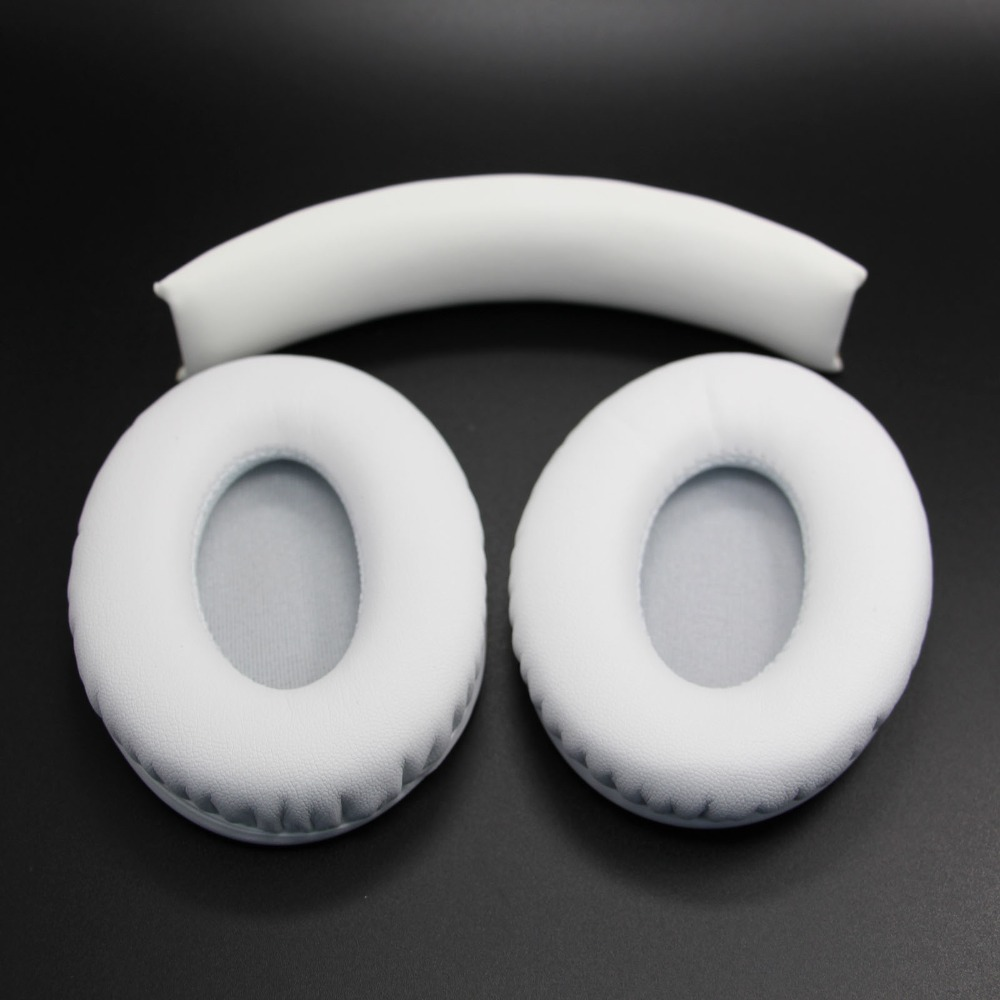 White Ear Cover Headband pads Replacement Ear Pads Headband Cushions For Monster Studio Headphones headsets(China (Mainland))