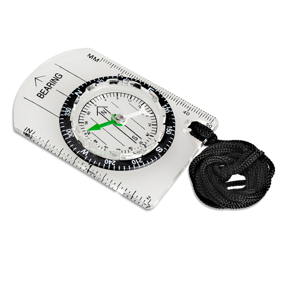All in One Outdoor Hiking Camping Baseplate Compass MM INCH Map Ruler FCI