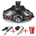 High Power 2000LM Cree xml T6 Headlamp Lights Head Lamp Rechargeable Fishing Hunting Headlight with 18650