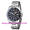 Parnis 43mm black dial Sapphire glass waterproof 200m automatic mens dive watch