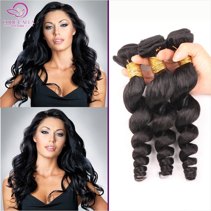 6a Malaysian Virgin Hair Loose Wave 3pcs/lot Human Hair Weave Bundles Malaysian Loose Wave Curly Hair Code Calla Products MTBW47<br><br>Aliexpress