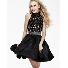 Cocktail Dresses Black New Beautiful Sexy High Quality Organza Short Black Beading Prom Pageant Dress Formal Gowns
