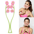 Portable Flower Shape Elastic Facial Massager Roller Anti Wrinkle Face Lift Slimming Face Face Shaper Relaxation