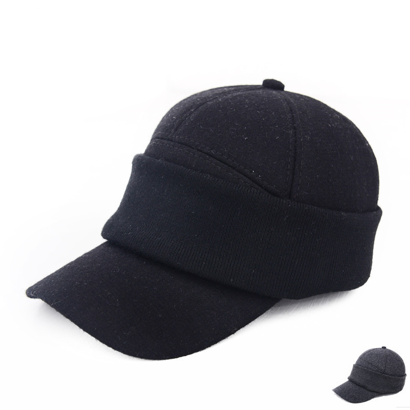 Wholesale Winter Ear Protection Snapback Hats Cap Deep Color Fitted Baseball Cap Hats Vintage Men's Outdoor Climbling Bones(China (Mainland))