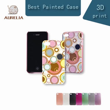 2014 Promotion Aurelia Band Oil Paintd Case for Iphone4 4s Picture with 3d Color Painting Circle Best Gift for Christmas 004