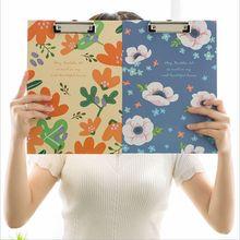 Cartoon Animal Owl Blossoming Flowers Printing Hardboard Folder Clipboard A4 Writing Pad School Office Supply Gift Stationery