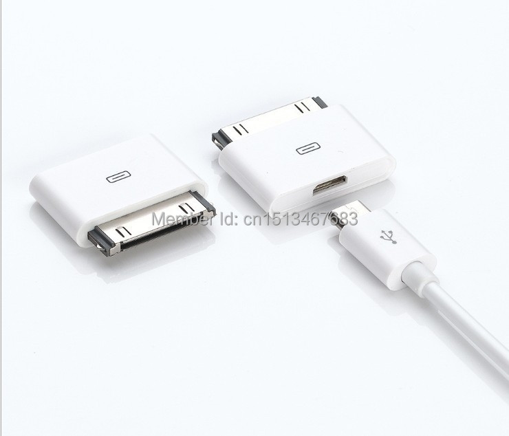 Гаджет  Original Micro USB 5Pin to 30Pin USB Charging Converter Adapter For iPhone4 iPhone 3 3GS 4 4S 4G iPad 2 3 iPod Touch4,Free None Телефоны и Телекоммуникации