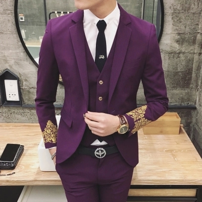 popular mens blue suit buy cheap mens blue suit lots from china mens blue suit suppliers on. Black Bedroom Furniture Sets. Home Design Ideas