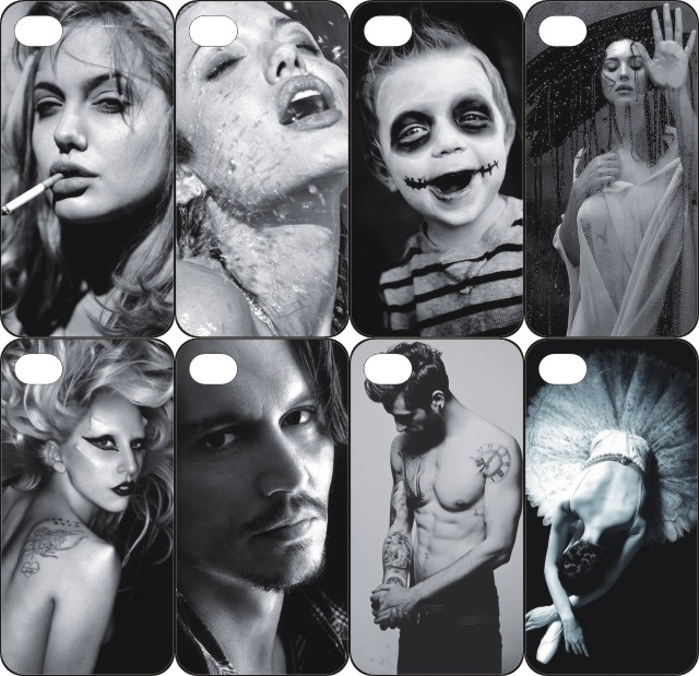 pz0015-9 for Angelina Jolie Design cellphone transparent cover cases for iphone 4 5 5c 5s 6 6plus Hard Shell