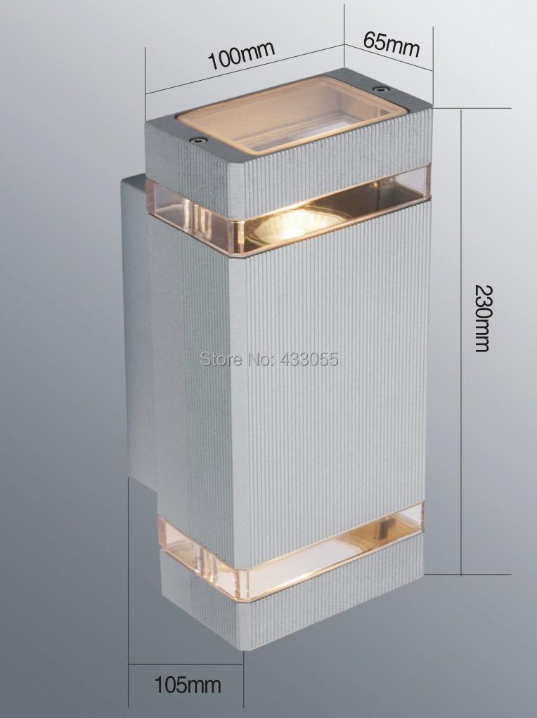 Black/Grey Shell Outdoor lighting / outdoor wall lamp / LED Porch/Garden Lights / aluminum light / waterproof IP65 lamp 1pcs/lot(China (Mainland))