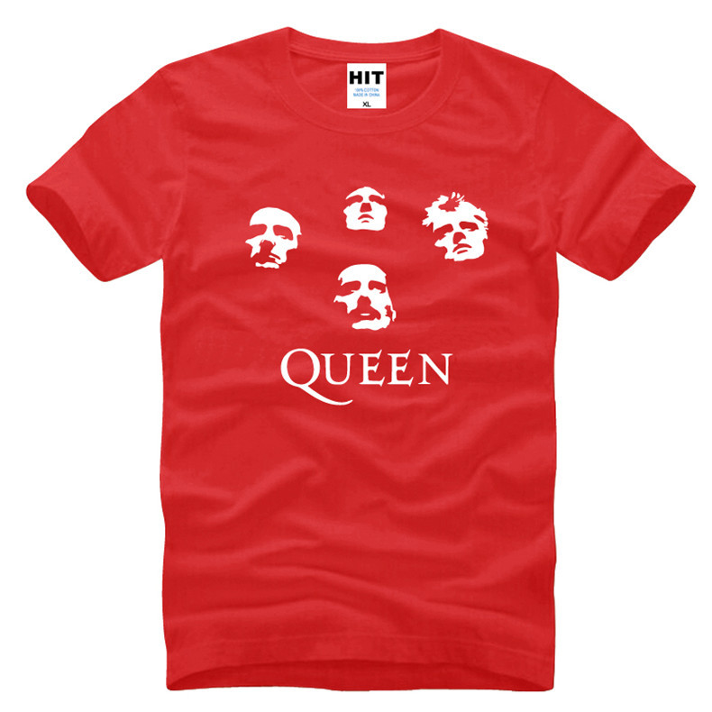 Glam Progressive Heavy Metal Rock Queen Mens Men T Shirt T-shirt Fashion 2016 New Short Sleeve O Neck Cotton Tshirt Tee(China (Mainland))