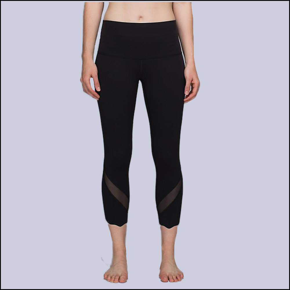 Women Fitness Yogaes Pants Sport Capris Gym Leopard Mesh Stitching capris Lulu Leggings Quick Dry Sweatpants Gym Trousers(China (Mainland))