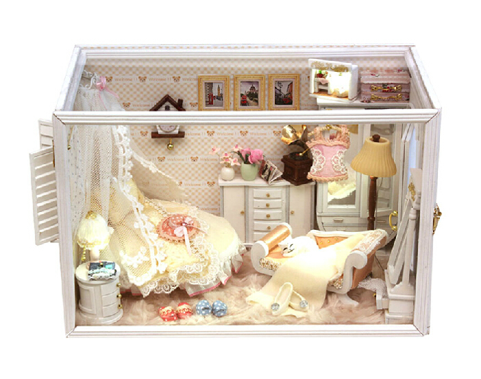 Diy Doll House Model Building Kits 3D Miniature Handmade Wooden Dollhouse Toy Christmas Birstday Gift-Perfect Flower Married - BOA 's store