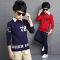 2016 New England style shirt for children 5 14 year baby boys brand autumn sweater kids