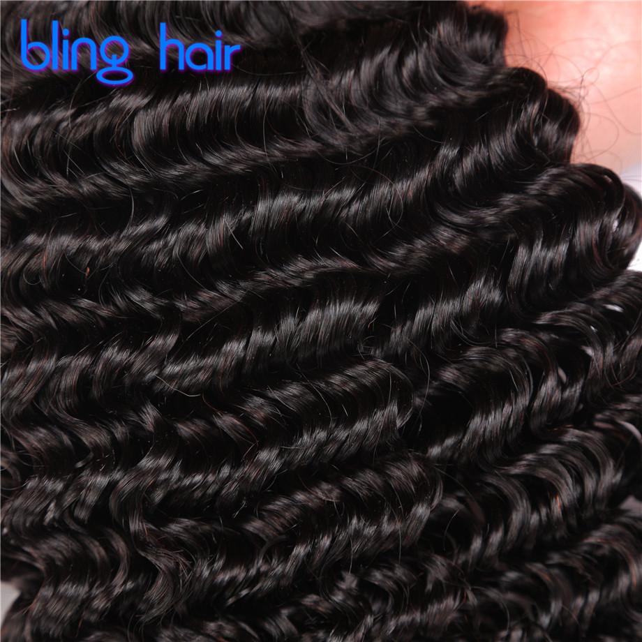 Bling Hair Brazilian Virgin Hair Deep Wave 3 Bundles Deep Wave Brazilian Hair 8A Human Hair Weave Bundles Brazilian Deep Curly