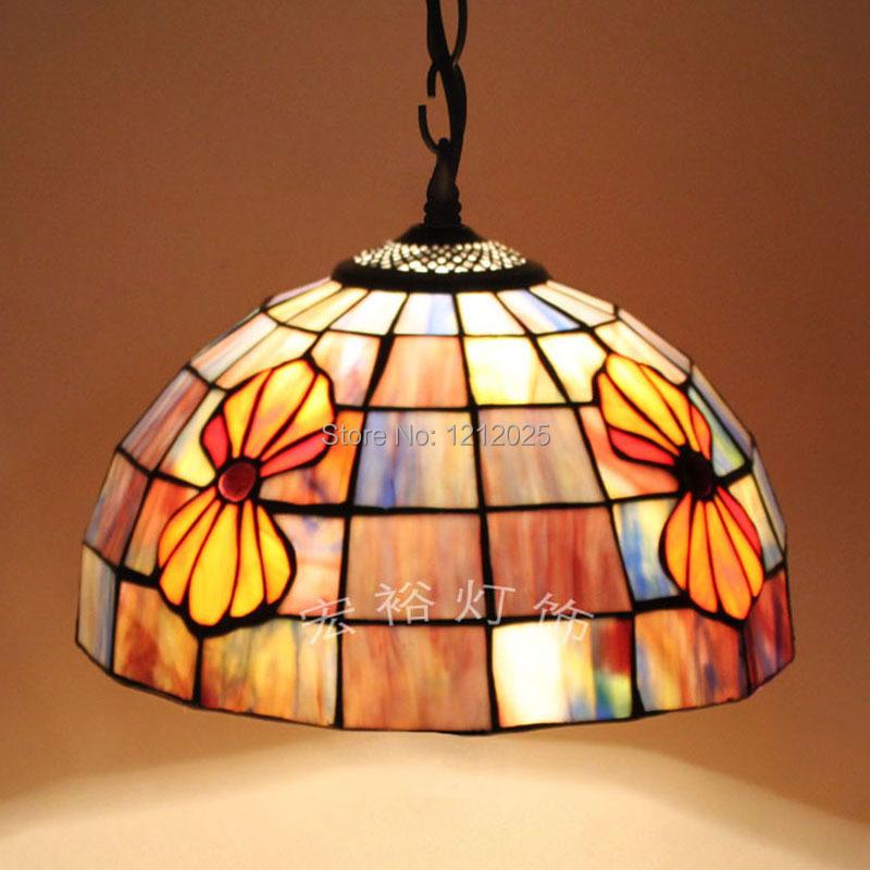 antique tiffany style seashell pendant lamp dinning room