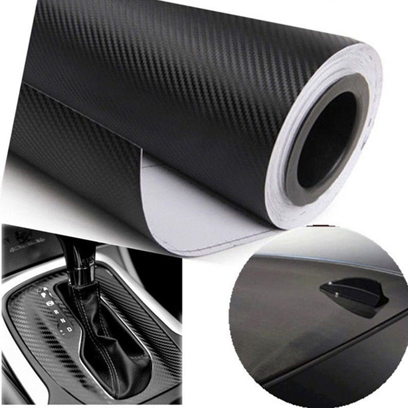 127cmX30cm 3D Carbon Fiber Vinyl Film Car Accessories Motorcycle Carbon Fibre Car Wrap Sheet Roll Film Sticker Decal Car Styling(China (Mainland))