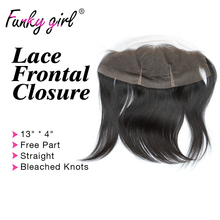 8A Brazilian Lace Frontal Closure 13×4 Straight Ear To Ear Lace Frontal Closure With Baby Hair 100% Human Hair Full Lace Frontal