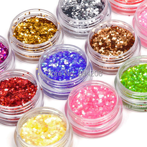 18 Color Nail Art Glitter Square Shape Paillette Decoration For Nail Art Tips(China (Mainland))