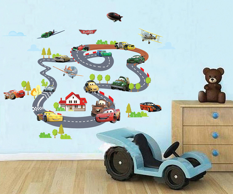 pixar cars wall stickers cartoon racing games car home 35 clever ideas for using car parts as home decor