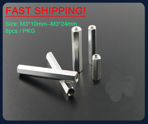 M3*10--M3*24  Hexa Aluminum Pillar Spacer Post for multicopter <br><br>Aliexpress