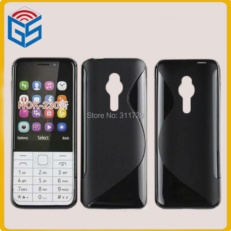 Very Small Mobile Phone S Line Soft Gel TPU Back Cover Case For Nokia 230 Dual(China (Mainland))