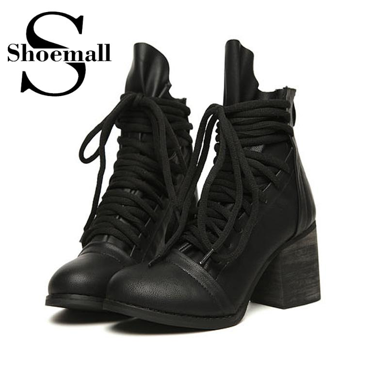 Womens Leather Lace Up Biker Boots | Santa Barbara Institute for ...